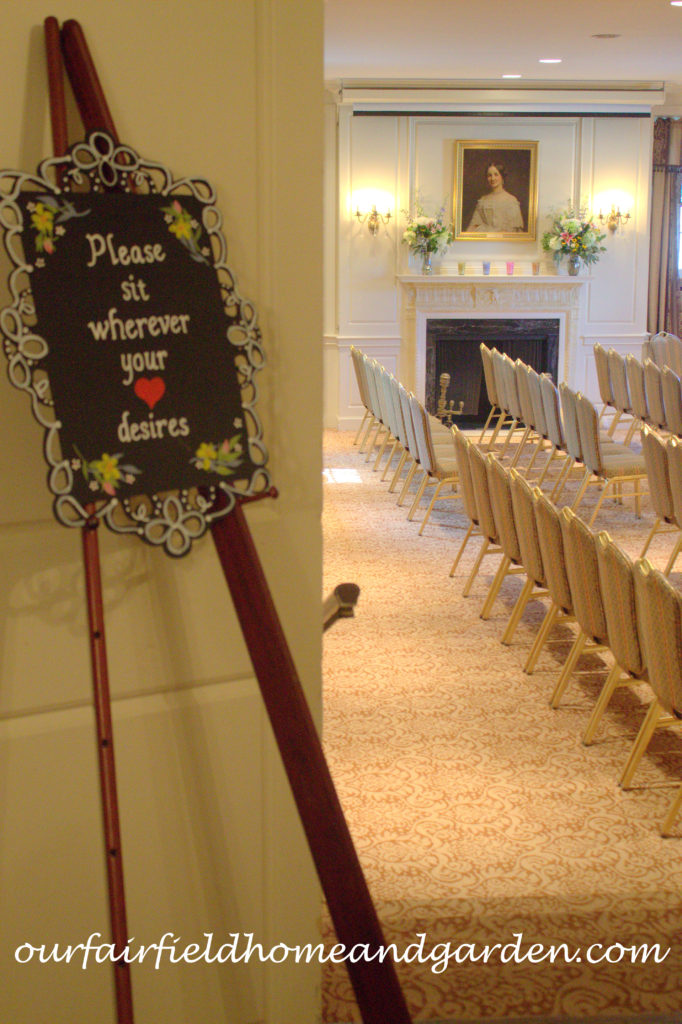 Casual Wedding Seating Sign http://ourfairfieldhomeandgarden.com/loving-touches-create-an-elegant-wedding-for-less/