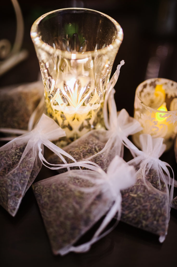 Votives and sachets http://ourfairfieldhomeandgarden.com/loving-touches-create-an-elegant-wedding-for-less/