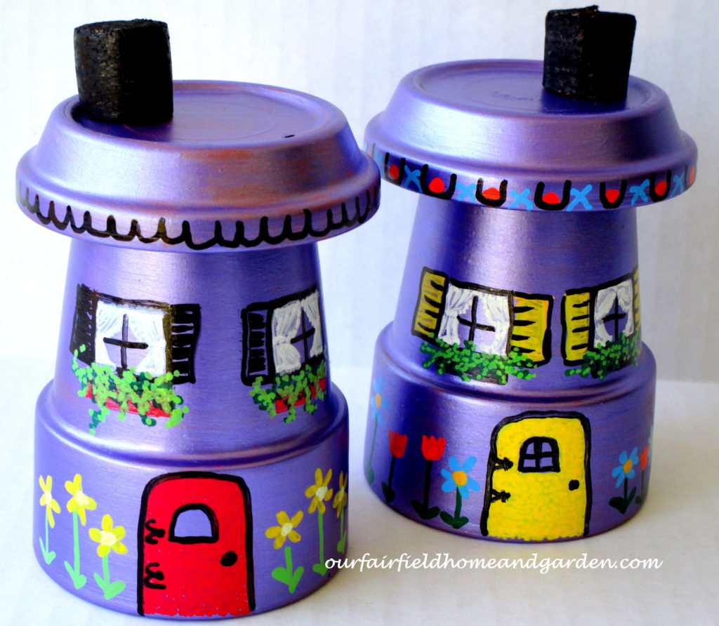 Flower Pot Fairy Houses https://ourfairfieldhomeandgarden.com/flower-pot-fairy-houses/