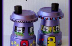 Flower Pot Fairy Houses