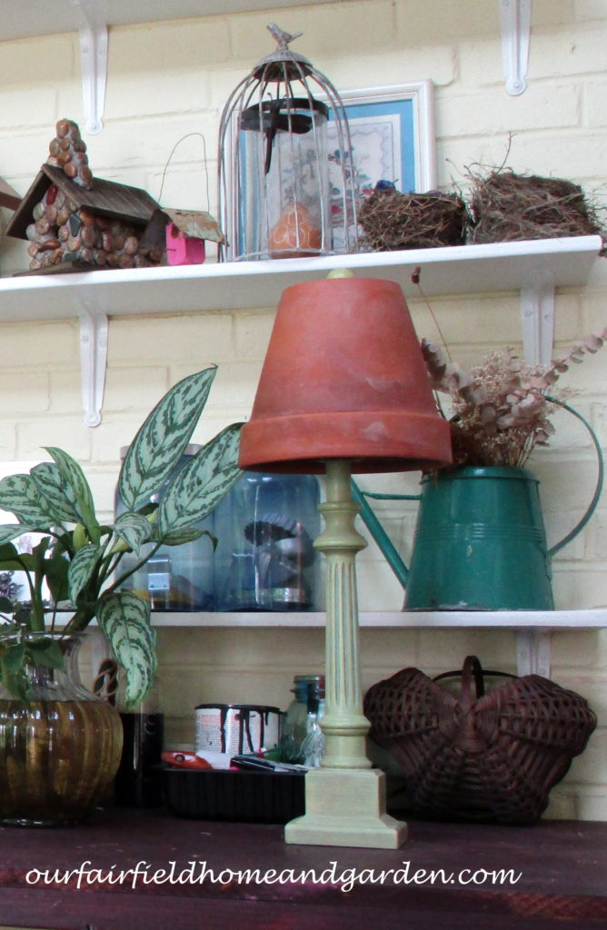 Flower Pot Lamp Shade https://ourfairfieldhomeandgarden.com/lamps-with-a-gardeners-touch/